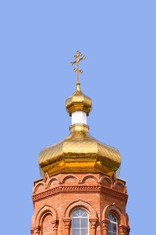Gold Church Stock Photo