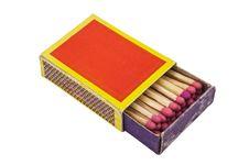 Free Matchbox Isolated, Path Provided. Stock Image - 5806221