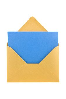 Yellow Envelope Isolated, Path Provided. Stock Photos