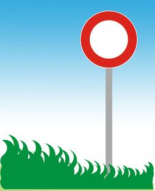 Free Road Sign And Grass Stock Image - 5806351