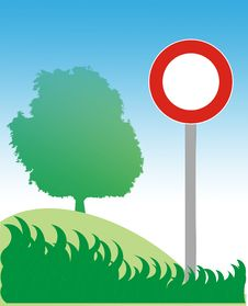 Free Road Sign, Tree And Grass Stock Photo - 5806700