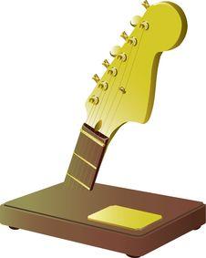 Free Golden Guitar Stock Image - 5806811
