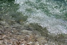 Free Waves And Pebbles Royalty Free Stock Photos - 5806818