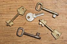 Free Old Keys Stock Image - 5806841