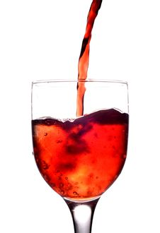 Free Glass With  Red Wine Stock Photography - 5806872