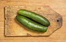 Free Two Cucumbers Royalty Free Stock Photos - 5807138