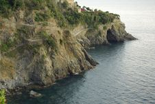 Morning In The Cinque Terre, Italy Royalty Free Stock Photography