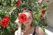 Free Girl Among Flowers Stock Photo - 5807430
