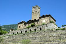 Ancient Castle, Aosta Valley, Italy Stock Photo