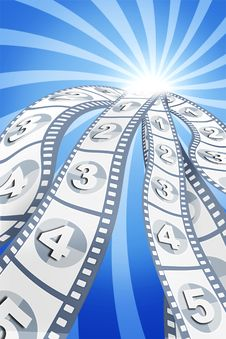 Free Movie Items On Background Royalty Free Stock Image - 5807546