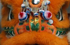 Close Up Of A Chinese Dragon Head Costume