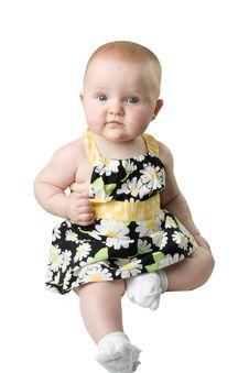 Free Baby Wearing Prety Dress Royalty Free Stock Image - 5807646
