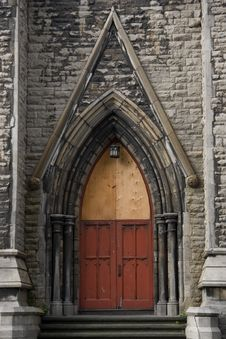 Free Door Of An Old Church. Stock Image - 5807881