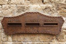 Free Italian Wall Box Stock Photo - 5807980