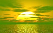 Free Beautiful Sunset Royalty Free Stock Photo - 5808245