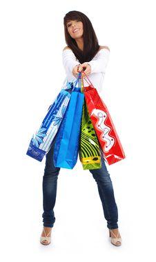 Free Happy Shopping Girl Royalty Free Stock Image - 5808806