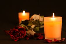 Free Orange Candles Royalty Free Stock Photo - 5809025