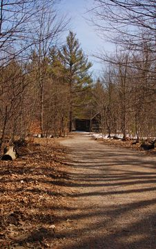 Path To Cabin Stock Photos