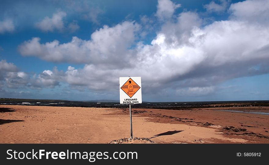 Lifeguard sign 1