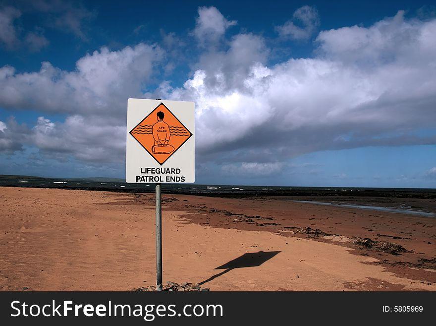 Lifeguard sign 4