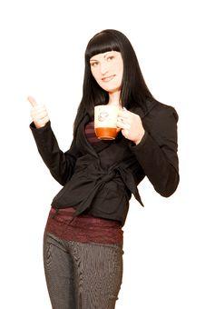 Free Business Woman On Coffee Break. Stock Photography - 5810042