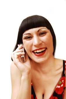 Free Woman On The Cell Phone. Stock Image - 5810091