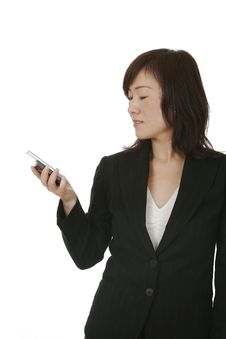 Free Asian Businesswoman With Mobile Phone Stock Photos - 5810243
