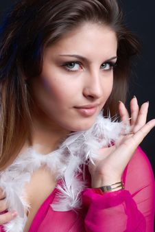 Free Woman With Feathers Stock Photos - 5811133