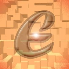 Free Alphabet Series: Letter E Stock Photography - 5811972