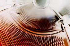 Perforation In Metal Stock Photo