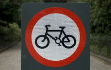 Free No Cycling On Pedestrian Paths Stock Photo - 5812220
