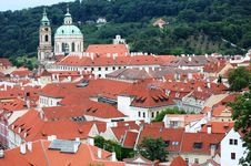 Red Roofs In Prague Royalty Free Stock Image