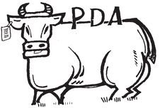 Free PDA Cow Illustration Stock Photos - 5813333