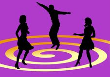 Free Dancing Trio Royalty Free Stock Photography - 5813517