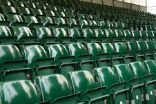 Free Rows Of Green Stadium Seats Royalty Free Stock Photography - 5813937