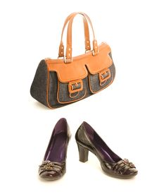 Free Leather Shoes With Handbag Stock Image - 5814021