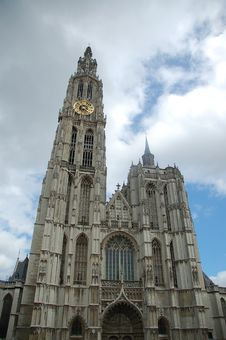 Free Cathedral Antwerp Stock Photography - 5814422