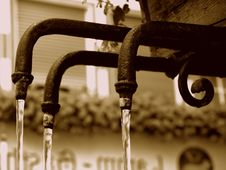 Three Pipes Of A Fountain Royalty Free Stock Photography