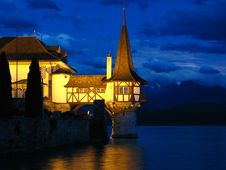 Free Oberhofen Castle (detail 02), Switzerland Stock Image - 5814821