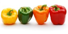 Free Coloured Peppers Royalty Free Stock Images - 5815419