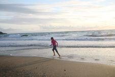 Free Running On The Beach Stock Photos - 5815463