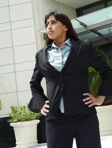Business Woman Waiting Royalty Free Stock Photo