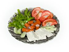 Free Breakfast With Cheese And Sausage Stock Photos - 5815533