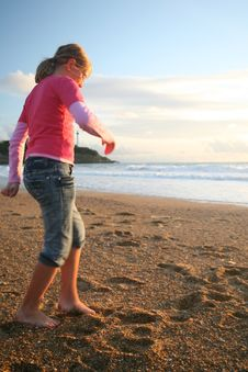 Free Girl On The Beach Stock Photo - 5815560