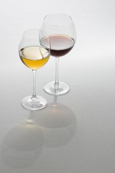 Two Tall Glasses Stock Photos