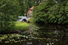 Free Landscape, House And Bridge Royalty Free Stock Image - 5815906