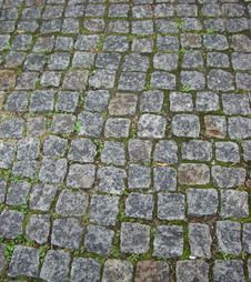 Thrown Road Paved By A Granite Stock Photography