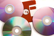 Free Diskette,CD,DVD Stock Images - 5816624