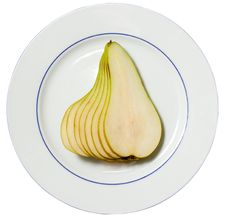 Free Pear On A Plate Royalty Free Stock Photo - 5816655