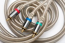 Free Component Video Cable Stock Image - 5817481